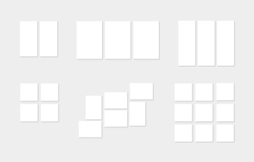 All multi panel sizes at a glance