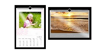 Seinäkalenteri A4 valokuvapaperilla