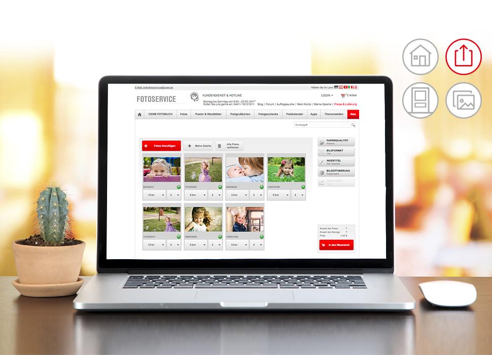 2. Einfach und sicher Ihre Fotos in Ihre Wunschfiliale online übertragen