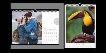 Veggkalender i A4-format