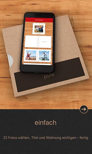 Die CEWE FOTOBUCH Pure App - einfach