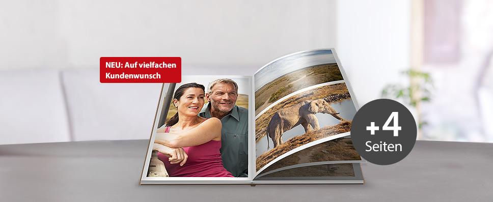 Ihr CEWE FOTOBUCH jetzt ganz flexibel mit jeweils 4 weiteren Seiten erweitern