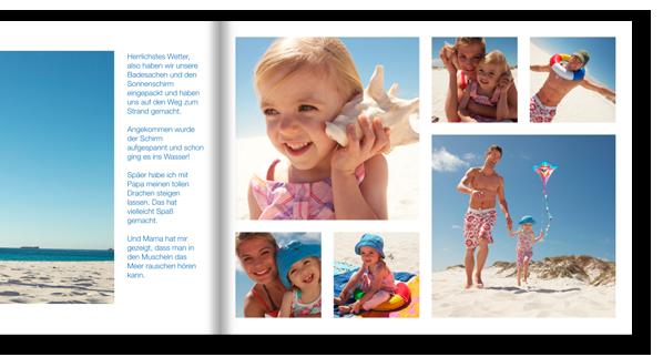 Teil unserer CEWE FOTOBUCH Software: Zahlreiche Vorschläge, die Ihnen bei der Gestaltung der Seiten helfen.