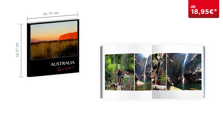 CEWE FOTOBUCH Quadratisch: Softcover-Einband