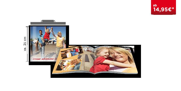 Fotobuch quadratisch mit Heftbindung