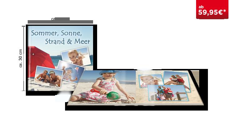 Fotobuch XL auf glänzendem Fotopapier ausbelichtet