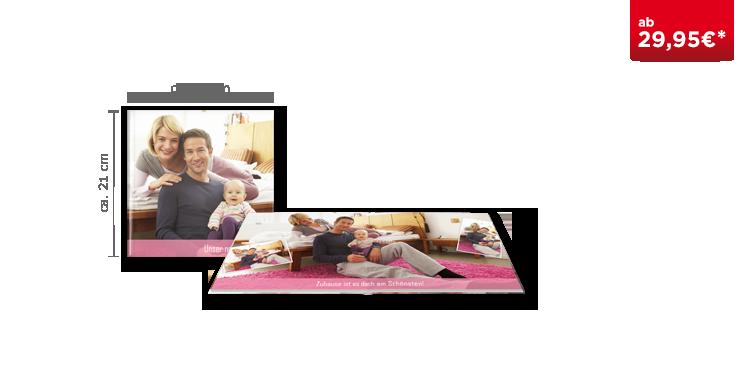 Fotobuch quadratisch auf Fotopapier matt