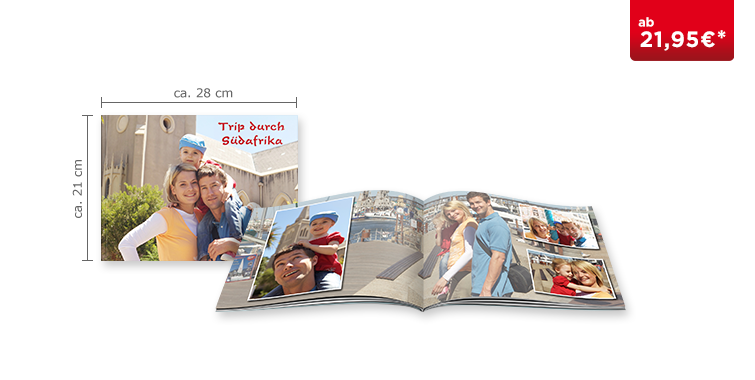 Fotobuch Groß Panorama: Softcover-Einband