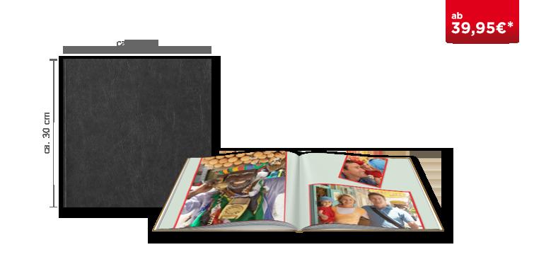 Fotobuch XL in Leder gebunden
