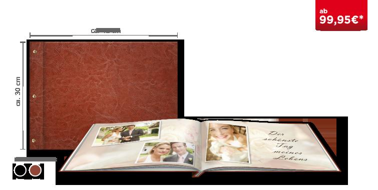 Fotobuch XXL Panorama im Premium-Ledereinband