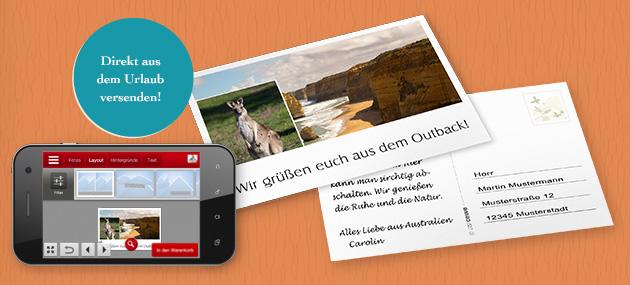 Einzelpostkarte mit CEWE FOTOWELT App