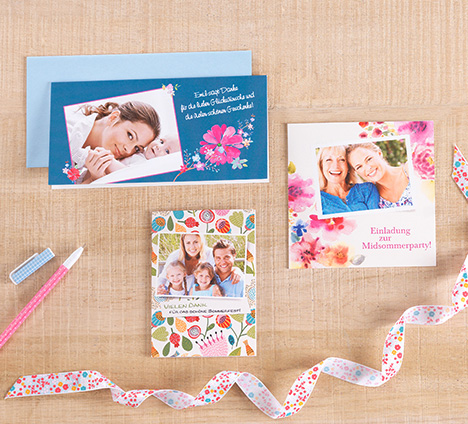 Grußkarten mit Blumendesign