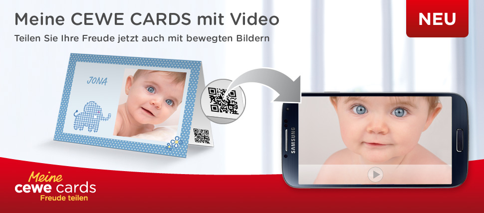 CEWE CARDS – Fotogrußkarten mit Video