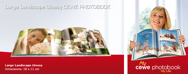 Large Landscape CEWE PHOTOBOOK with Wedding Image