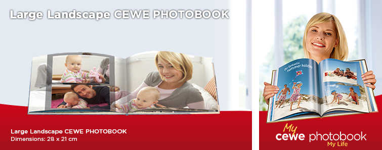 Large Photo Book in Landscape format with Baby Image