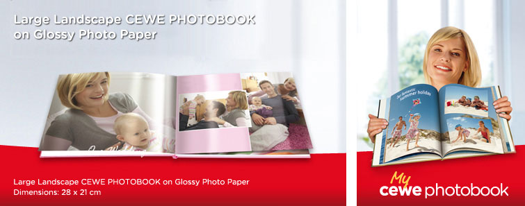 Large Glossy Photographic Paper Album in landscape format