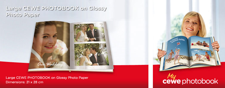 Large Glossy Photographic Paper Album in portrait format