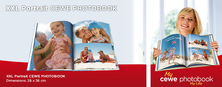 XXL Portrait PHOTO BOOK with Holiday Image