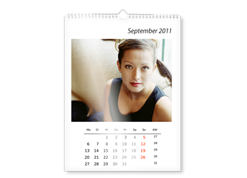 A2 WALL CALENDAR ON PHOTOGRAPHIC PAPER