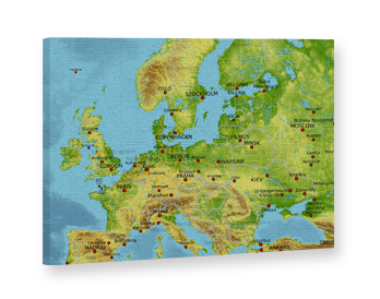 Canvas Print with Maps