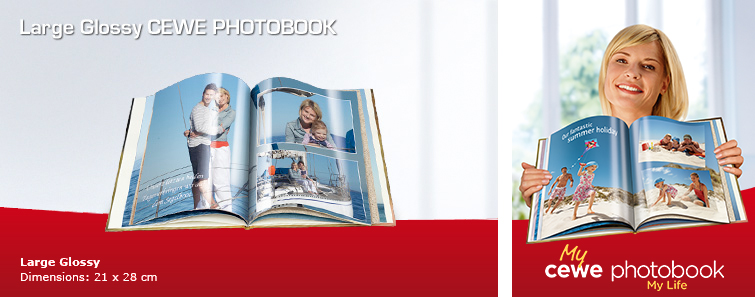 Large Glossy Photo Book with Garden Image