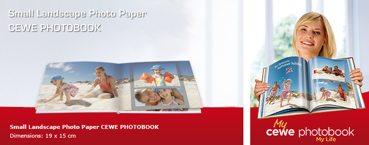 Small Photographic Paper Album in landscape format