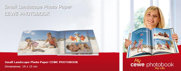 Small Photographic Paper Album in landscape format