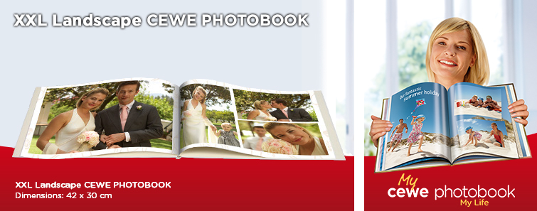 XXL CEWE PHOTOBOOK with Wedding Image