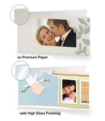 XL GREETING CARD, LONG FOLD