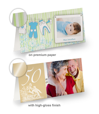 XL GREETING CARDS, LONG FOLD (Set of 10)
