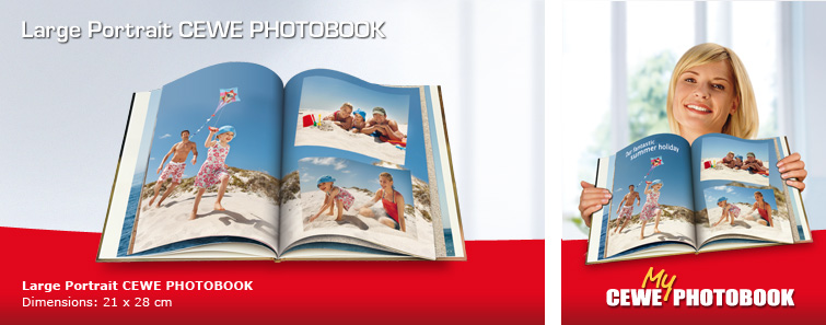 Large Portrait CEWE PHOTOBOOK with Sailing Image