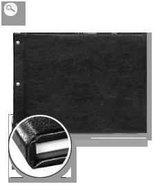 Einband: Leder schwarz