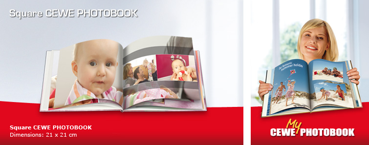 Small Square CEWE PHOTOBOOK with Baby Image