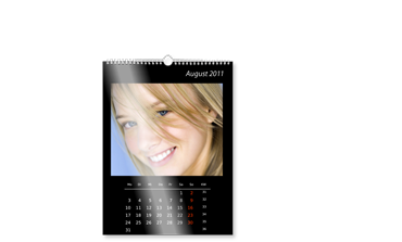 A2 WALL CALENDAR ON PHOTO PAPER