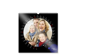 SQUARE WALL CALENDAR ON PHOTOGRAPHIC PAPER