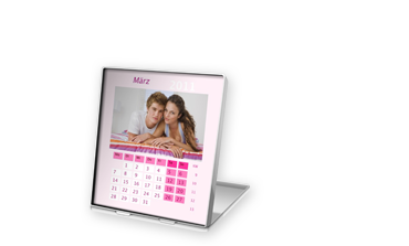 STANDING DESKTOP CALENDAR ON PHOTOGRAPHIC PAPER