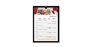 A4 Family Calendar