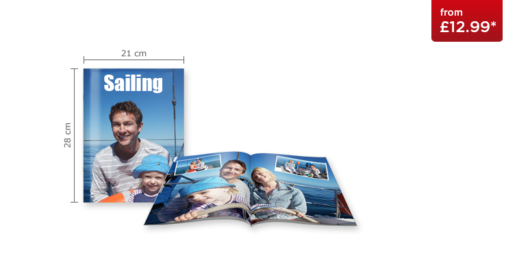 Large Portrait CEWE PHOTOBOOK with Booklet Cover