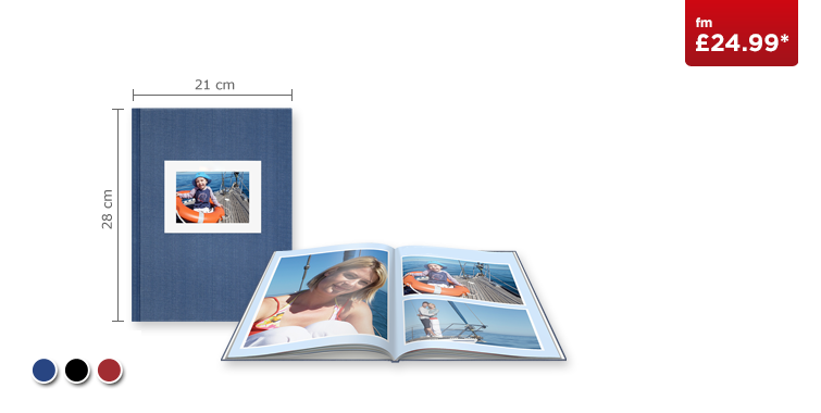 Large Portrait CEWE PHOTOBOOK with Linen Cover