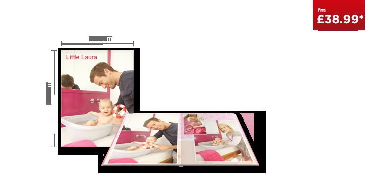 Large Portrait CEWE PHOTOBOOK with Premium Photographic Paper