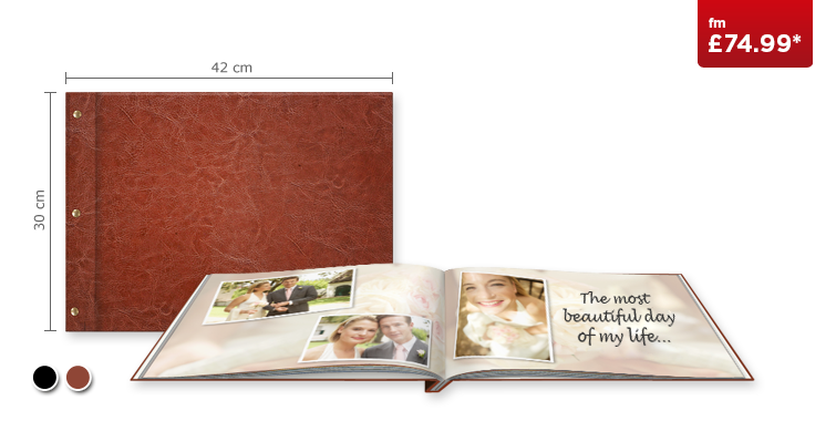 XXL Landscape CEWE PHOTOBOOK with Premium Leather cover