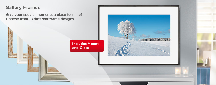 Gallery Frames - Give your greatest moments the perfect setting!