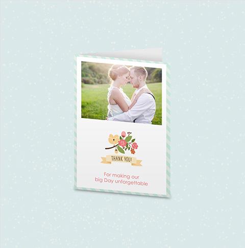 4 x 5.5 Folded Card