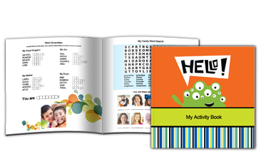 Hello! Activity Book, Boy (8X8)