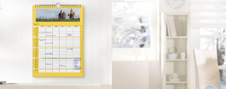 8 x 11 Family Calendar