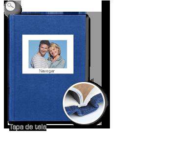 Encuadernación: Tapa de tela azul