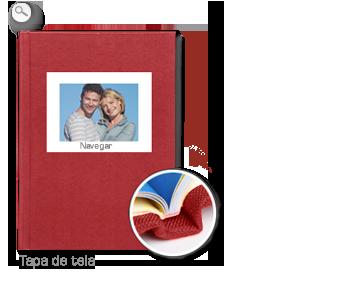 Encuadernación: Tapa de tela roja