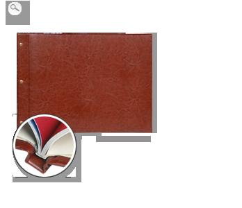 Encuadernación: Cuero marrón