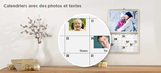 Calendriers avec photos