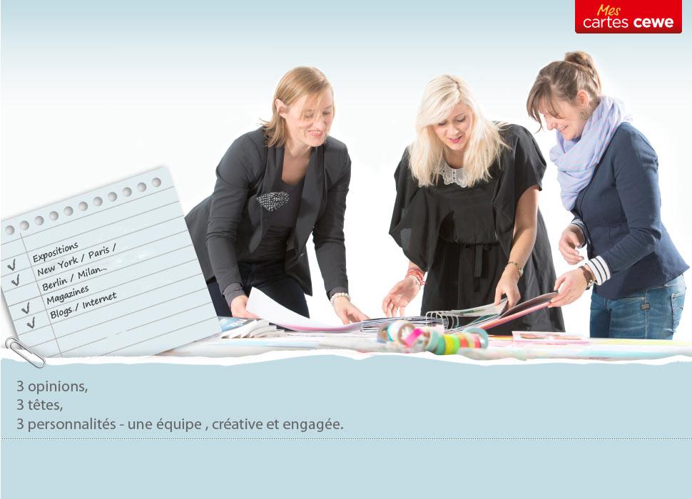 L'équipe de designs CEWE